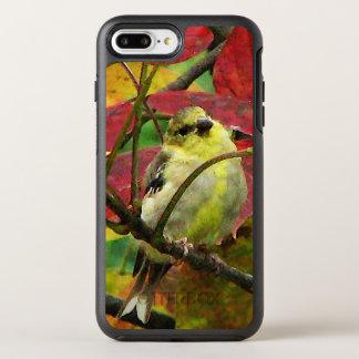 Gelber Goldfinch-Vogel-Herbst OtterBox Symmetry iPhone 8 Plus/7 Plus Hülle