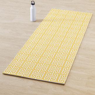 Gelber griechischer Schlüsseldruck Yogamatte