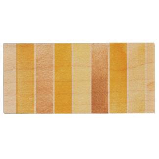 gelber großer Aquarellhintergrund - Aquarell Holz USB Stick