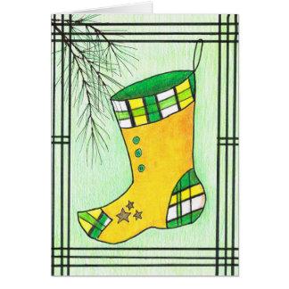 Gelber Hanbok WeihnachtsStrumpf Karte