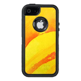 gelber Hintergrund. Aquarell auf Papier OtterBox iPhone 5/5s/SE Hülle