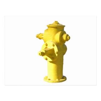 Gelber Hydrant Postkarte
