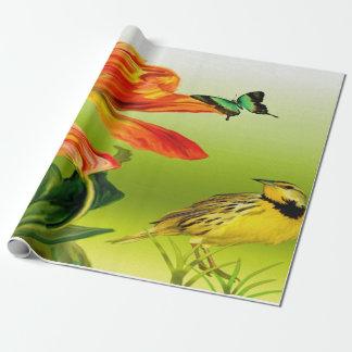 Gelber Kanarienvogel Geschenkpapier