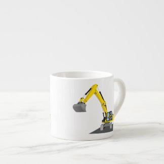 gelber Kettenbagger Espressotasse