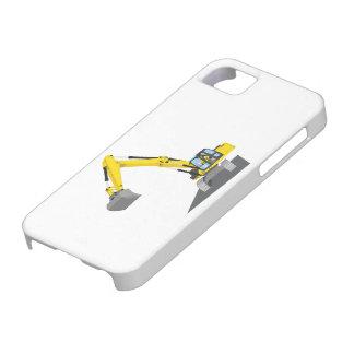 gelber Kettenbagger iPhone 5 Schutzhülle