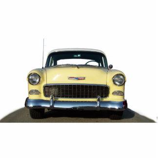 Gelber Klassiker Chevy 1955 Chevrolet Photo Figuren