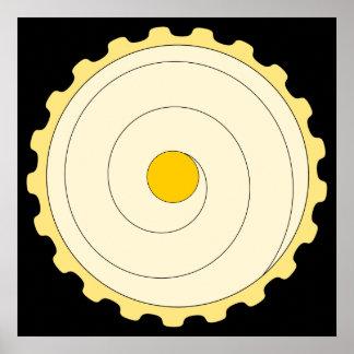 Gelber kleiner Kuchen Gefrorener Kuchen Plakatdrucke