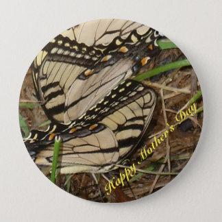 Gelber Knopf der Monarch-Mutter Tages Runder Button 10,2 Cm