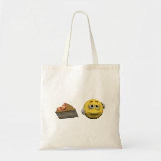 Gelber kranker Emoticon oder smiley Tragetasche