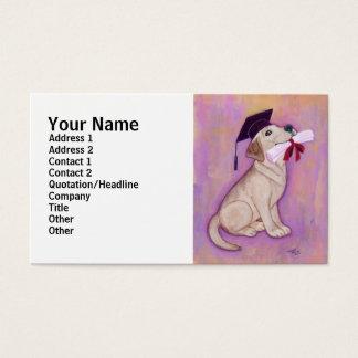 Gelber Labrador-Abschluss Visitenkarte