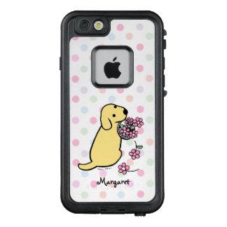Gelber Labrador-Blumen-Korb iPhone Kasten LifeProof FRÄ' iPhone 6/6s Hülle