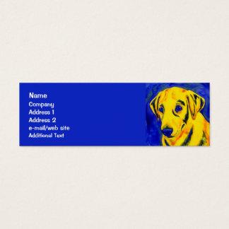 """Gelber Labrador - dünne Geschäfts-Karte - """"archie Mini Visitenkarte"""