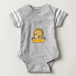 Gelber Labrador-golden retriever-Kopf-Kreis Retro Baby Strampler