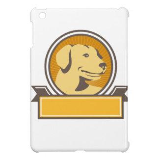 Gelber Labrador-golden retriever-Kopf-Kreis Retro iPad Mini Hülle