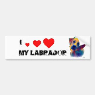 Gelber Labrador-Hund Autoaufkleber