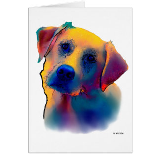 Gelber Labrador-Hund Karte