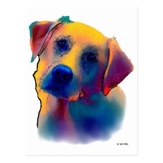Gelber Labrador-Hund Postkarte