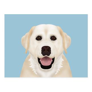 gelber Labrador-Retriever-Cartoon Postkarte