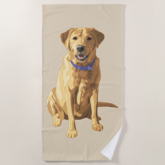 Gelber Labrador retriever-Hundeliebhaber Strandtuch