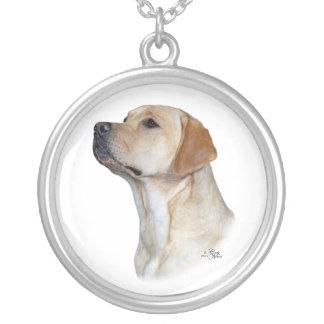 Gelber Labrador retriever-Kopf Versilberte Kette
