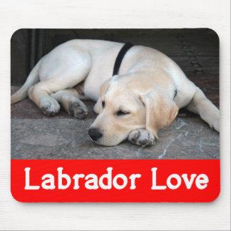 Gelber Labrador-Retriever-Welpen-Hund - gelber Mauspads