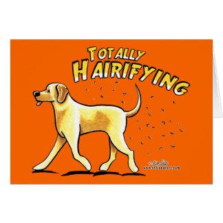 Gelber Labrador total Hairifying Karte