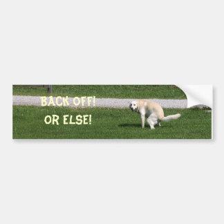 Gelber Labrador ziehen sich zurück Autoaufkleber