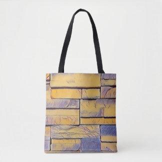 Gelber Lavendel-flippige Schichten Ziegelsteine Tasche