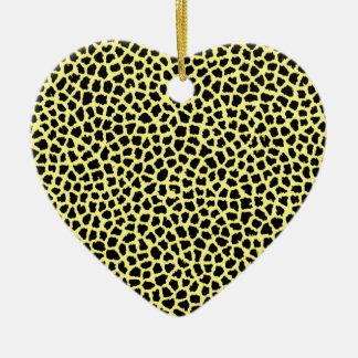 Gelber Leoparddruck Keramik Ornament