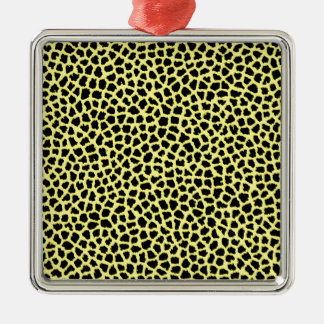 Gelber Leoparddruck Silbernes Ornament