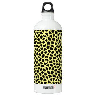 Gelber Leoparddruck Wasserflasche