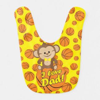 Gelber Liebe-Vati-Basketball-Schellfisch des Lätzchen
