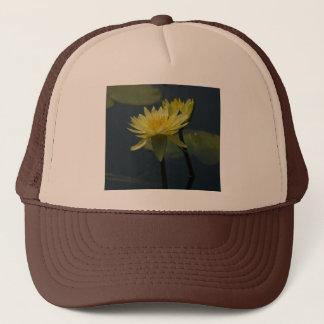 Gelber Lotos-Wasserlilie-Hut Truckerkappe
