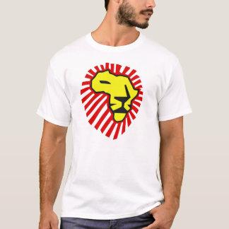 Gelber Löwe-rote Mähne dieses mal für Afrika-Shirt T-Shirt