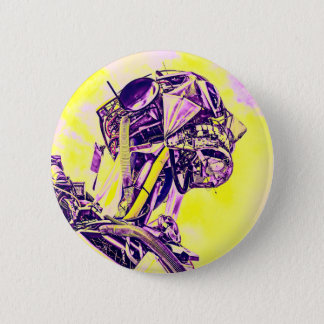 Gelber Mann Runder Button 5,1 Cm
