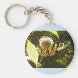 Gelber Monarch-Sommer Keychain Schlüsselanhänger