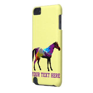 Gelber Pferderennen-Entwurf iPod Touch 5G Hülle
