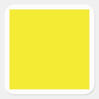 Gelber quadratischer Aufkleber