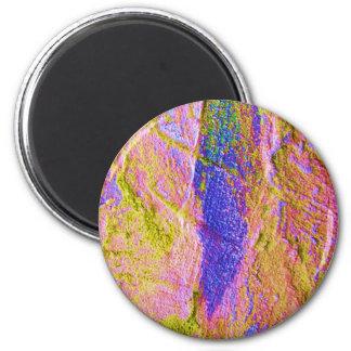 Gelber rosa blauer Zerstampfungs-Magnet - kundenge Kühlschrankmagnete