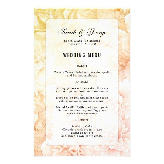 Gelber rosa Blumenhintergrund-kundenspezifisches 14 X 21,6 Cm Flyer