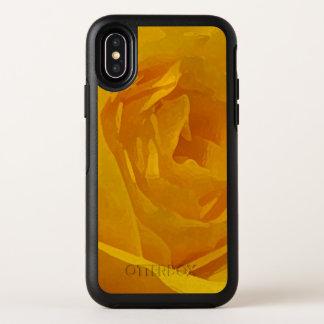 Gelber Rosen-Blumen OtterBox iPhone X Mit OtterBox Symmetry iPhone X Hülle