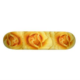 Gelber RoseSkateboard Bedruckte Skateboarddecks