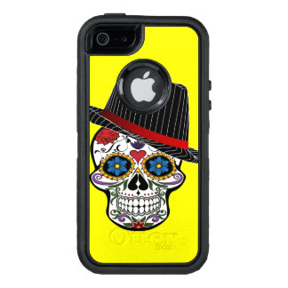 Gelber Schädel-Entwurf OtterBox iPhone 5/5s/SE Hülle