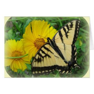 Gelber Schmetterling Karte