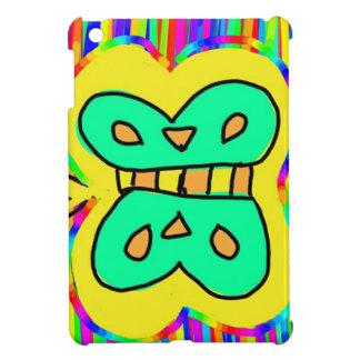 gelber Schmetterling mit Farben im Hintergrund iPad Mini Hülle