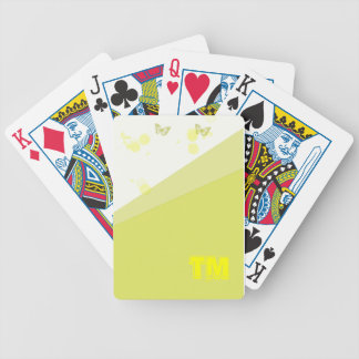 gelber Schmetterling Poker Karten