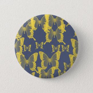 gelber Schmetterling Runder Button 5,7 Cm