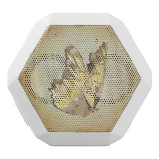 gelber Schmetterling Vintage viktorianische Weiße Bluetooth Lautsprecher