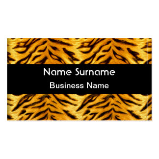 Gelber schwarzer Tiger-Blick Visitenkarten
