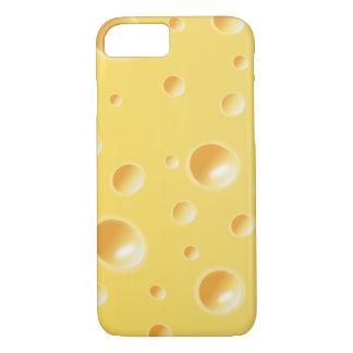 Gelber Schweizer Käse-Scheibe-Beschaffenheit iPhone 8/7 Hülle